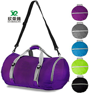 Fitness XIAMEND Fitness Bag Travel Bag Cylinder Sports Bag with Shoe Compartment for Men and Women Yoga Color : Black