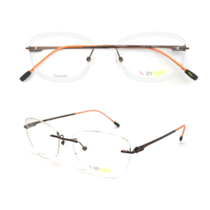 4d0b88d84470 IN-002 China Frameless New Model Fashionable Brand Name Rimless Titanium  Optica Spectacle Glasses Frames
