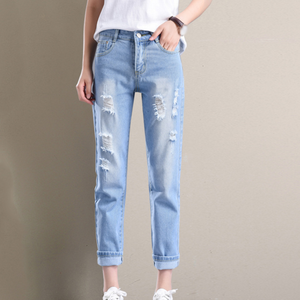 388253c28 Wholesale New Design Sexy Woman Jeans Fashion Ripped Jeans Ladies Cheap Blue  Pants Trousers