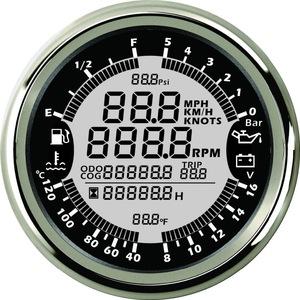Multi-function LCD Digital 6 in1 Car Auto Meter LED Oil Pressure Gauge Universal