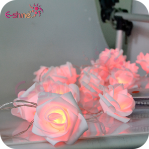 20 Led Rose Flower Light Wedding Party Xmas String Battery Bedroom Decor Pink ZH