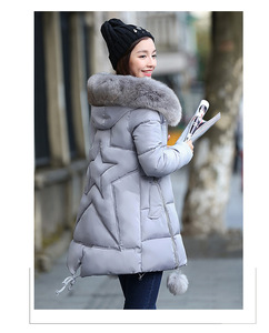 dalina Women Removable Faux Fur Hooded Fluffy Thicken Long Down Coat Down