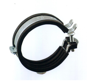 Zinc Plated Steel Rubber Lined P Clips Sleeving Hose. Fasteners for Tubing