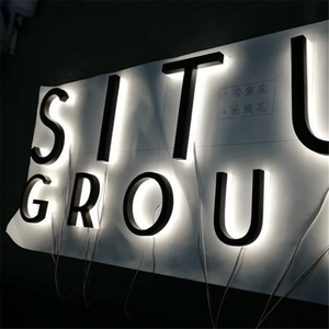 stainless steel acrylic letter signage, stainless steel