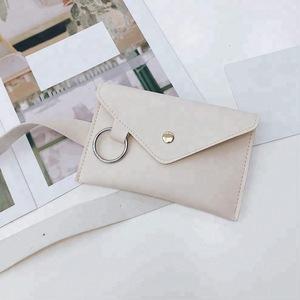 Metallic Gold AB Envelope Belt Bag Fanny Pack Money Waist Bum Bag Hip