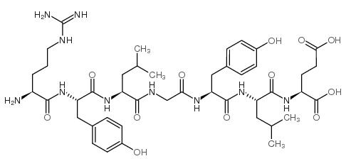 2-[[2-[[2-[[2-[[2-[[2-[[<em>2-amino-5-</em>(diaminomethylideneamino)pentanoyl]<em>amino</em>]-3-(<em>4-hydroxyphenyl</em>)propanoyl]<em>amino</em>]-4-methylpentanoyl]<em>amino</em>]acetyl]<em>amino</em>]-3-(<em>4-hydroxyphenyl</em>)propanoyl]<em>amino</em>]-4-methylpentanoyl]<em>amino</em>]pentanedioic <em>acid</em>