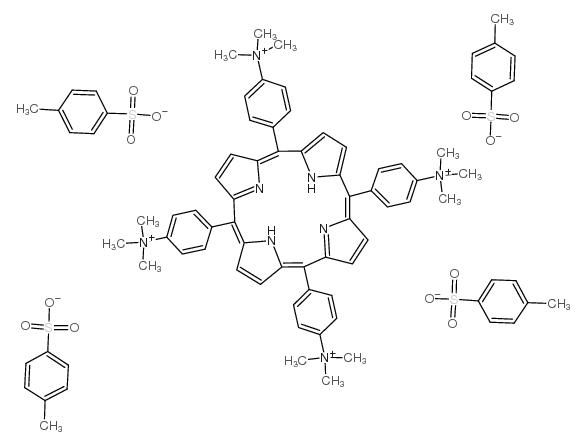 4-methylbenzenesulfonate,<em>trimethyl-</em>[4-[10,15,20-tris[4-(trimethylazaniumyl)phenyl]-21,22-dihydroporphyrin-5-yl]phenyl]<em>azanium</em>