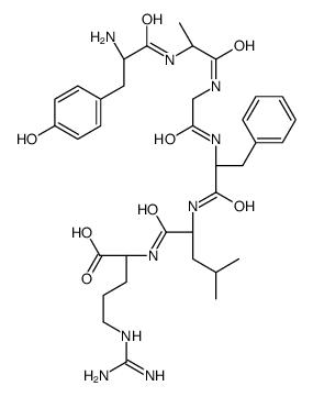 (<em>2S</em>)<em>-2-</em>[[(<em>2S</em>)<em>-2-</em>[[(<em>2S</em>)<em>-2-</em>[[2-[[(<em>2R</em>)<em>-2-</em>[[(<em>2S</em>)-2-amino-3-(4-hydroxyphenyl)<em>propanoyl</em>]<em>amino</em>]<em>propanoyl</em>]<em>amino</em>]acetyl]<em>amino</em>]-3-phenylpropanoyl]<em>amino</em>]-4-methylpentanoyl]<em>amino</em>]-5-(diaminomethylideneamino)pentanoic <em>acid</em>