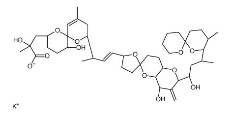 )-1-hydroxy-3-[(6S,9R,10S)-9-methyl-5,11-d ioxaspiro[5.5]undecan-10-yl]butyl]-3-methylene-spiro[4a,7,8,8a-te trahydro-4H-pyrano[<em>3</em>,<em>2-b</em>]pyran-6,5'-tet