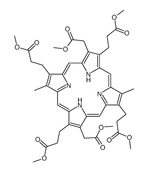<em>methyl</em> 3-[8,18-bis(<em>2-methoxy-2-oxoethyl</em>)-7,12,17-tris(3-methoxy-3-oxopropyl)-3,13-dimethyl-22,24-dihydroporphyrin-2-yl]propanoate