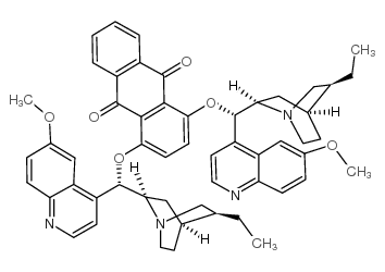 1,4-bis[(S)-(5-ethenyl-1-azabicyclo[2.2.2]octan-2-yl)-(6-methoxyquinolin-4-yl)methyl]anthracene-9,10-dione