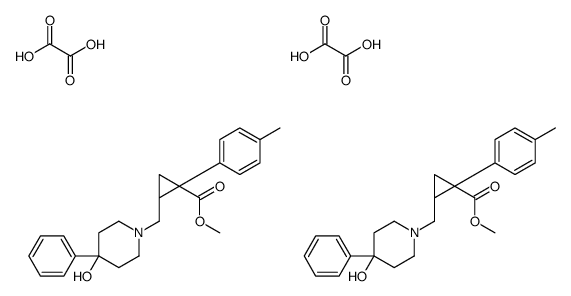 methyl (1R,2S)-2-[(4-hydroxy-4-phenyl-1-piperidyl)methyl]-1-(p-to lyl)cyclopropanecarboxylate,methyl (1S,2R)-2-[(4-hydroxy-4-phenyl -1-piperidyl)methyl]-1-(p-tolyl)cyclopropanecarboxylate,oxalic ac id