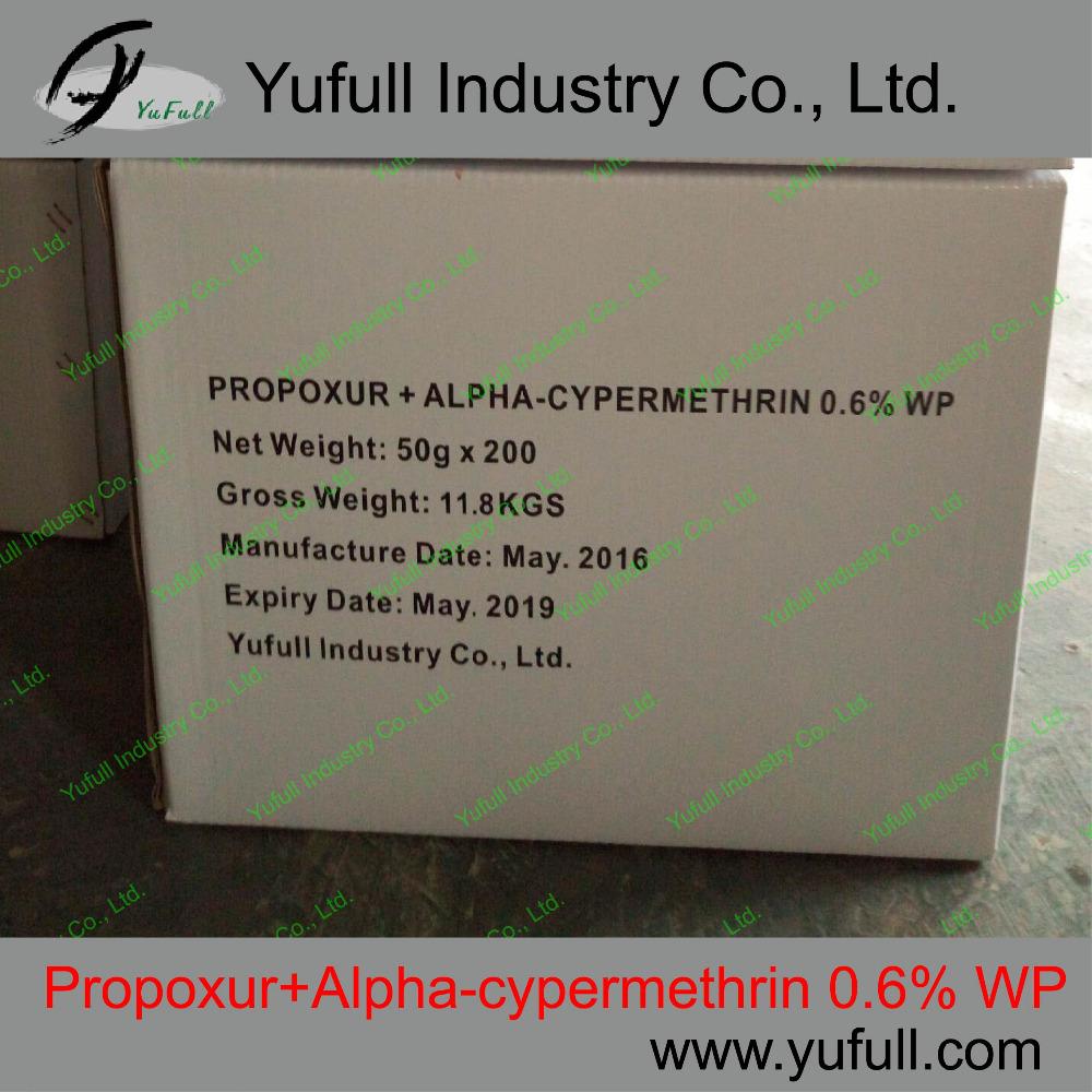 <em>Propoxur</em> 0.45% + Alpha-Cypermethrin 0.15% WP fungicide mixture