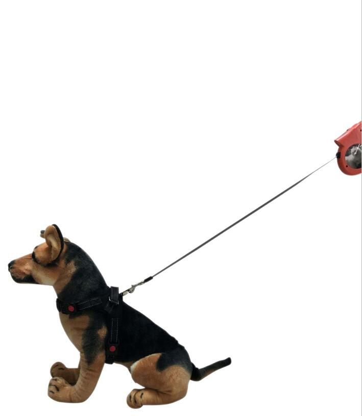 JZK Black dog lead retractable dog leash 5 meter 16ft heavy duty dog walking lead for small medium large dogs up to 40kg