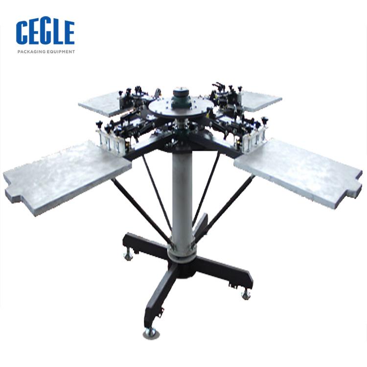 semi automatic screen printing machine 4 color, semi