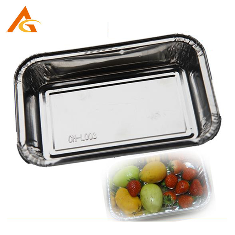 disposable silver food container, disposable silver food container