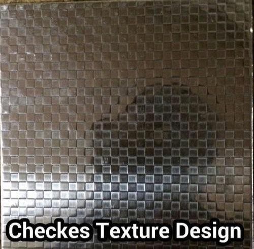 SMT Checkes Texture Stainless Steel Sheets, Thickness: 1-2 mm