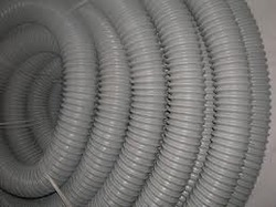 GREY Round Steel Reinforced Flexible Pipe