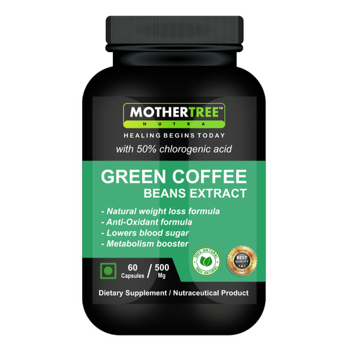 Mother Tree Nutra Green Coffee Beans Extracts Capsules, Packaging Type: Hdpe Bottle, Pack ...
