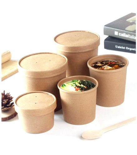 a458ff59a Brown Gujarat Shopee Kraft Paper Container With LID