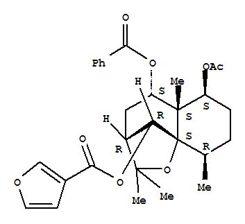 3-Furancarboxylic acid,(3R,5S,5aS,6S,9R,9aS,10R)-6-(acetyloxy)-5-(benzoyloxy)<em>octahydro-2</em>,<em>2</em>,<em>5a</em>,<em>9-tetramethyl-2H-3</em>,9a-methano-1-benzoxepin-10-ylester