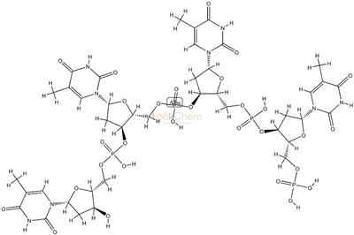 2945-57-5 [(2R,3S,5R)-3-[hydroxy-[[(2R,3S,5R)-3-[hydroxy-[[(2R,3S,5R)-3-[hydroxy -[[(2R,3S,5R)-3-hydroxy-5-(5-methyl-2,4-dioxo-pyrimidin-1-yl)oxolan-2- yl]methoxy]phosphoryl]oxy-5-(5-methyl-2,4-dioxo