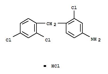 3-CHLORO-4-(2,4-DICHLOROBENZYL)ANILINIUM CHLORIDE