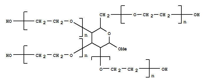 Poly(oxy-1,2-ethanediyl),a-hydro-w-hydroxy-, ether with methyl b-D-glucopyranoside,octadecanoate (8:2:3)
