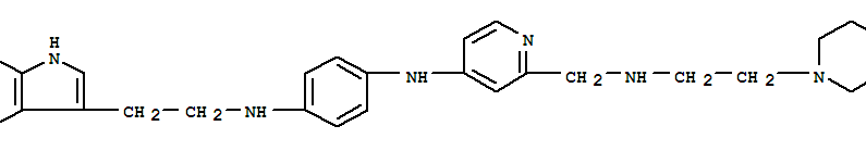 1,4-BENZENEDIAMINE,N-[2-(1H-INDOL-3-YL)ETHYL]-N'-[2-[[[2-(PIPERAZIN-1-YL)ETHYL]AMINO]METHYL]-PYRIDIN-4-YL]-
