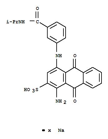 1-AMINO-4-[3-(ISOPROPYLAMINO)CARBONYL(PHENYLAMINO)]-9,10-DIHYDRO-9,10-DIOXOANTHRACENE-2-SULFONIC ACID,SODIUM SALT