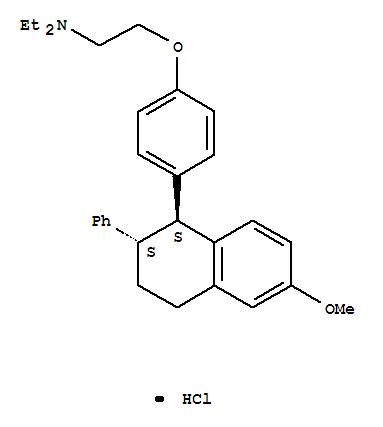 Ethanamine,N,N-diethyl-2-[4-(1,2,3,4-tetrahydro-6-methoxy-2-phenyl-1-naphthalenyl)phenoxy]-,hydrochloride, trans- (9CI)