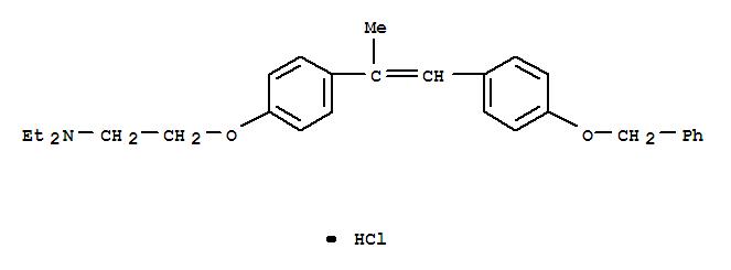 Ethanamine,N,N-diethyl-2-[4-[1-methyl-2-[4-(phenylmethoxy)phenyl]ethenyl]phenoxy]-,hydrochloride (1:1)