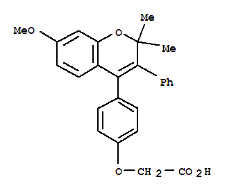 Acetic acid,2-[4-(7-methoxy-2,2-dimethyl-3-phenyl-2H-1-benzopyran-4-yl)phenoxy]-