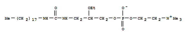 3-OCTADECANUREIDO-2-ETHOXYPROPYL PHOSPHOCHOLINE