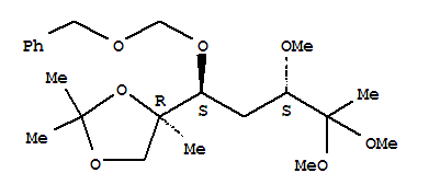 1,4-DIDEOXY-6-C-METHYL-3-O-METHYL-6,7-O-(ISOPROPYLIDENE)-5-O-[(PHENYLMETHOXY)METHYL]-ARABINO-2-HEPTULOSE DIMETHYL ACETAL