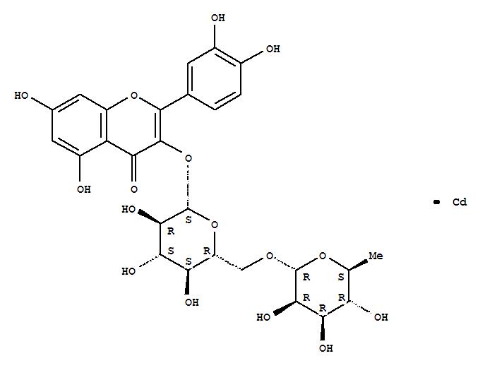 Flavone,3,3',4',5,7-pentahydroxy-, 3-[6-O-(6-deoxy-a-L-mannopyranosyl)-b-D-glucopyranoside], cadmium salt (1:1) (8CI)