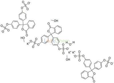 123333-59-5 phenolphthalein carbinol disulfate, tripotassium salt.H2O