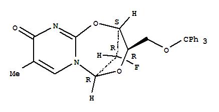 2,5-Methano-5H,9H-pyrimido[2,1-b][1,5,3]dioxazepin-9-one,11-fluoro-2,3-dihydro-8-methyl-3-[(triphenylmethoxy)methyl]-, [2S-(2a,3b,5a,11S*)]- (9CI)