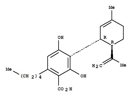 2,?4-?dihydroxy-?3-?[(1R,?6R)-?3-?methyl-?6-?(1-?methylethenyl)-?2-?cyclohexen-?1-?yl]-?6-?pentyl-?benzoic acid