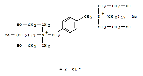 1,4-Benzenedimethanaminium,N1,N1,N4,N4-tetrakis(2-hydroxyethyl)-N1,N4-dioctadecyl-, chloride (1:2) cas 1630-27-9