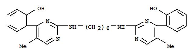 Phenol,2,2'-[1,6-hexanediylbis[imino(5-methyl-2,4-pyrimidinediyl)]]bis- (9CI) cas  92736-15-7