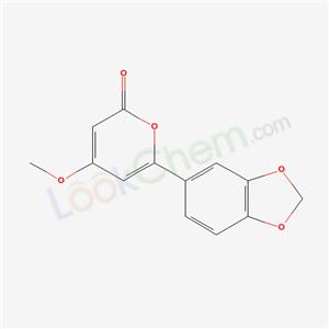2H-Pyran-2-one,6-(1,3-benzodioxol-5-yl)- 4-methoxy-  cas  6969-80-8