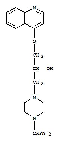 4-(DIBENZYL)-A-((QUINOLINYLOXY)METHYL)-1-PIPERAZIN-1-YLETHANOL
