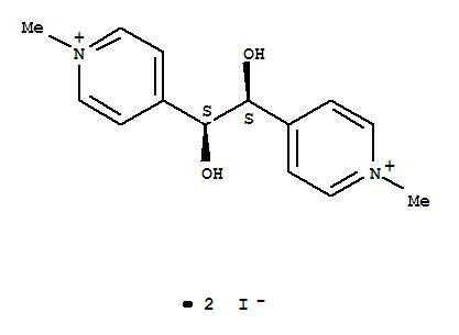 Pyridinium,4,4'-(1,2-dihydroxy-1,2-ethanediyl)bis[1-methyl-, diiodide, (R*,R*)- (9CI)