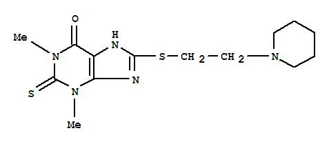 6H-Purin-6-one,1,2,3,9-tetrahydro-1,3-dimethyl-8-[[2-(1-piperidinyl)ethyl]thio]-2-thioxo- cas 6466-17-7