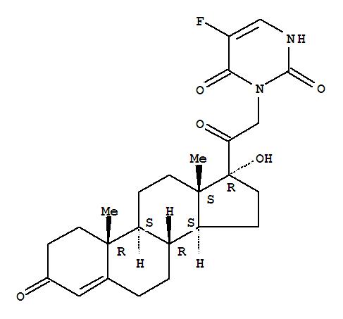2,4(1H,3H)-Pyrimidinedione,5-fluoro-3-(17-hydroxy-3,20-dioxopregn-4-en-21-yl)- (9CI) cas  69636-80-2