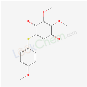 2,3-dimethoxy-5-(4-methoxyphenyl)sulfanyl-cyclohexa-2,5-diene-1,4-dione cas  68160-34-9