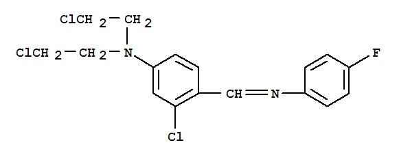 Benzenamine,3-chloro-N,N-bis(2-chloroethyl)-4-[[(4-fluorophenyl)imino]methyl]- cas  1744-55-4