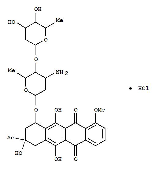 5,12-Naphthacenedione,8-acetyl-10-[[3-amino-2,3,6-trideoxy-4-O-(2,6-dideoxy-a-L-arabino-hexopyranosyl)-a-L-lyxo-hexopyranosyl]oxy]-7,8,9,10-tetrahydro-6,8,11-trihydroxy-1-methoxy-,hydrochloride, (8S-c