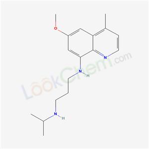 N-(6-methoxy-4-methyl-quinolin-8-yl)-N-propan-2-yl-propane-1,3-diamine cas 63456-76-8